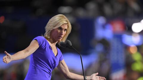 Laura Ingraham speaking at the Republican Party's national convention in...