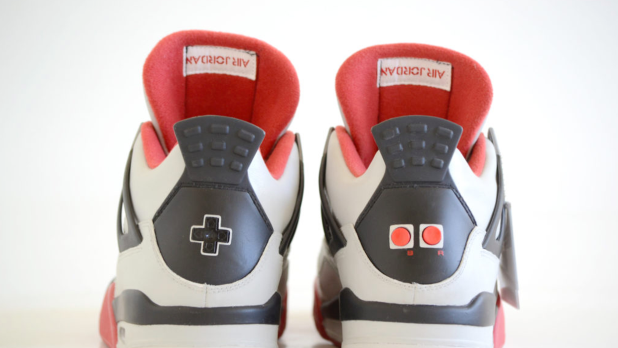 FreakerSneak Air Jordans with the D-pad buttons on the back