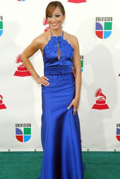 Y en 2007 sorprendió con este vestido azul.