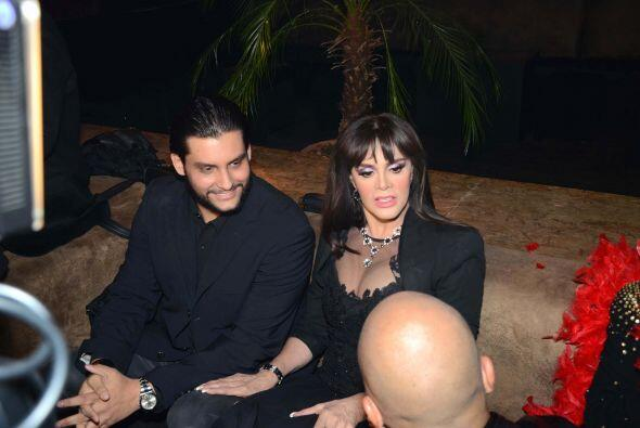 Su hijo, Pedro Antonio, y su ex esposo el productor Pedro Torres.
