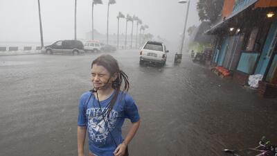 Imágenes del impacto del huracán Hermine tras llegar a Florida