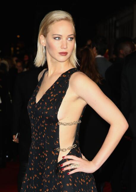 Jennifer Lawrence en el estreno de 'Mockingjay Part 2' en Londres.