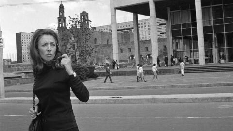 La periodista italiana Oriana Fallaci.