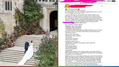 Excéntrica novia pide a sus invitados vestirse de acuerdo a su peso para la boda