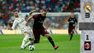 Real Madrid gana el Trofeo Santiago Bernabéu al Milan, previo a la Supercopa de Europa