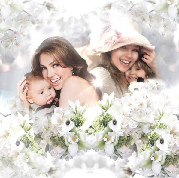 Thalía hijos, Mattew y Sabrina