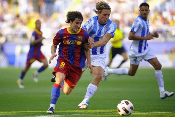 Bojan fue de lo mejor en el Barcelona. Se movió por todo el frente de at...
