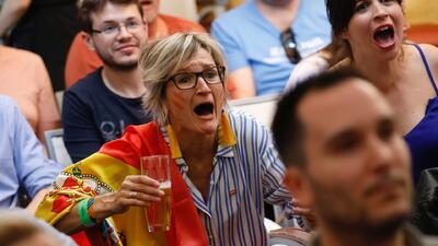 Así se vivió el debut de la selección de España en las calles de Madrid