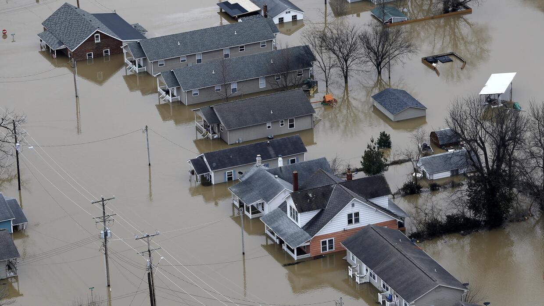 Cientos de viviendas bajo las aguas del Missisippi