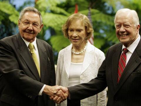 El ex presidente estadounidense Jimmy Carter se reunió el martes...