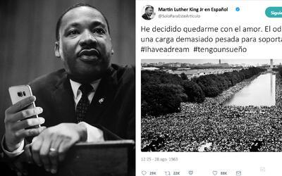 Uno que hubiera gustado al reverendo Luther King, el hashtag #BlackLives...