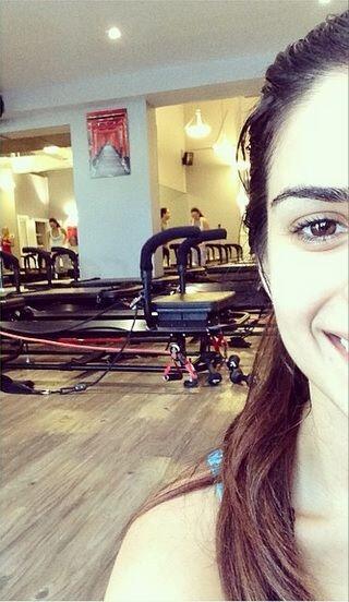 Así luce Vanessa después de una extenuante rutina de pilates.