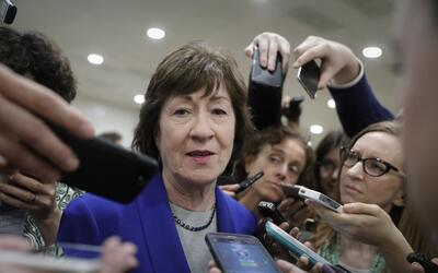Susan Collins, senadora republicana por Maine, dijo el lunes por la noch...