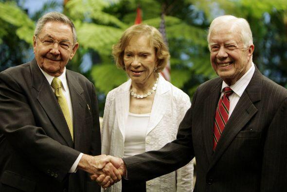 El ex presidente estadounidense Jimmy Carter se reunió el martes con el...