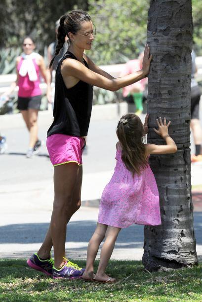 Es muy común encontrar a Alessandra disfrutando de actividades al aire l...