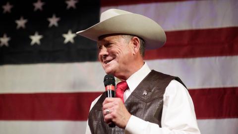 Roy Moore, el candidato republicano al Senado por Alabama.