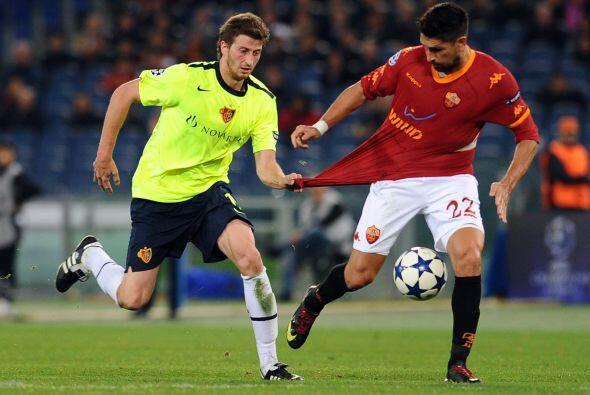 Los romanos perdían pero el atacante Marco Borriello puso las cosas 1-1.
