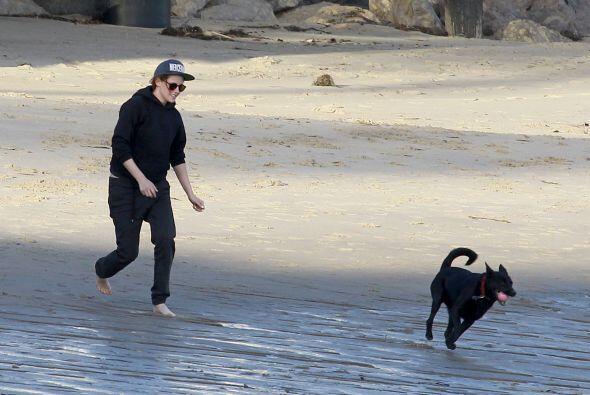 No les salió, así que siguieron lanzándole la pelota a su perrito.