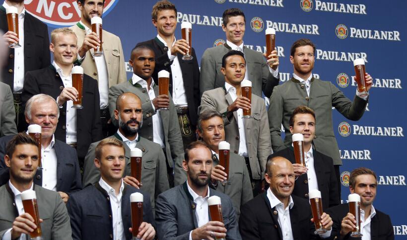 El Bayern de Pep Guardiola se vistió hoy con el traje típi...