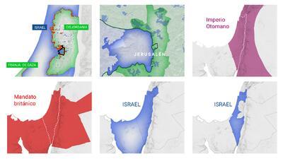 La complicada crisis palestino israelí explicada en seis mapas y de un vistazo