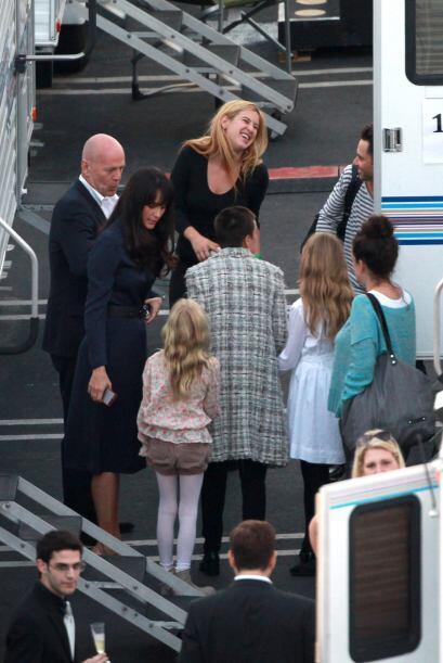 Bruce y Demi fueron a ver a su hija Rumer Willis bailar.