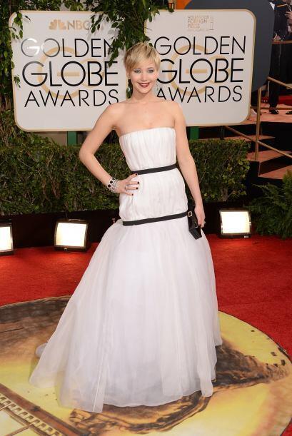 El vestido de Dior de Jennifer Lawrence tampoco fue uno de los favoritos...