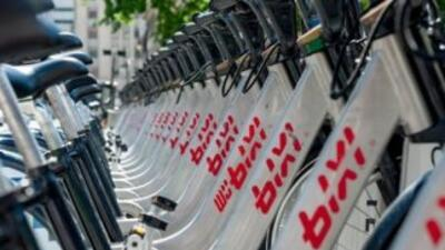 Bicis del servicio Bixi de Montreal.