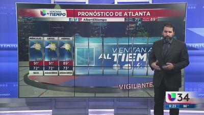 Posibilidades de lluvia en Atlanta