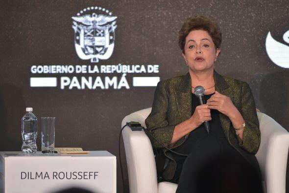 Dilma Rousseff durante su participación en la Cumbre Empresarial.