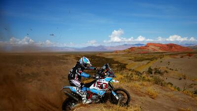 Las 20 postales de paisajes durante la dura competencia en el Rally Dakar