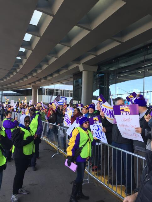 Huelga aeropuerto O´Hare