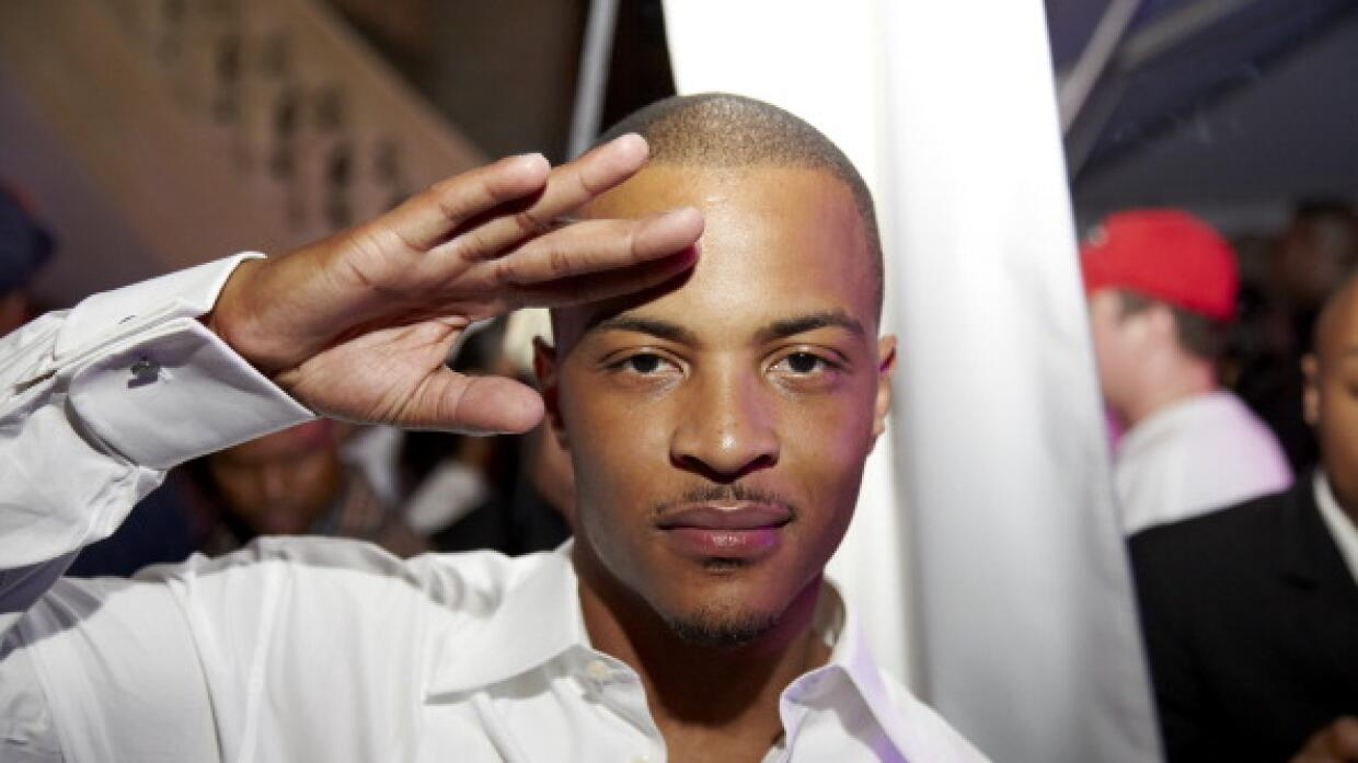 Rapper and producer T.I. poses for a photo at the GREY GOOSE Cherry Noir...