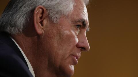 El secretario de Estado, Rex Tillerson, dijo que su país eval&uac...
