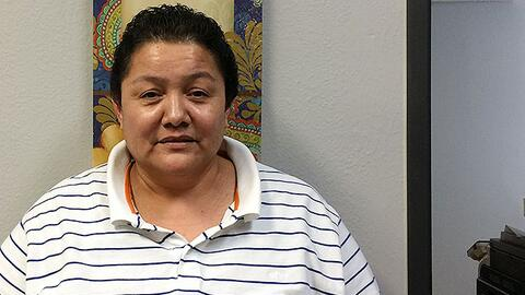 La inmigrante salvadoreña Rosalina Rivas Menjívar.