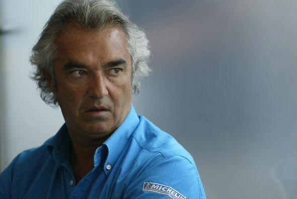 El italiano Flavio Briatore, que gestionaba su carrera, después de su te...
