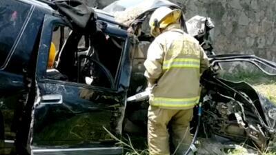 Estas son las imágenes del aparatoso accidente donde murieron 8 músicos de regional mexicano (hay 4 heridos)