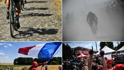 En fotos: la accidentada etapa del pavé en el Tour de Francia