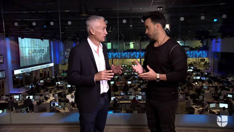 Luis Fonsi le enseña a bailar 'Despacito' a Jorge Ramos