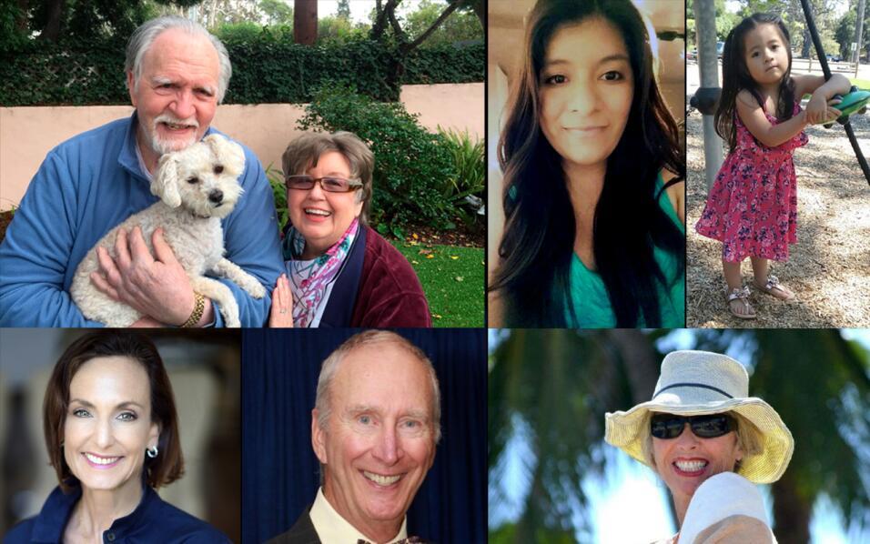Víctimas de los deslaves en California
