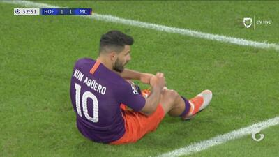 'Kun' Agüero se pierde una jugada de primaria frente al Hoffenheim