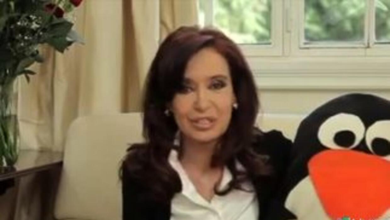 Reapareció en video Cristina Kirchner, presidenta de Argentina