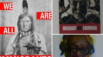 """Inaugurán la exhibición """"Trump: Todos somos inmigrantes"""" en museo de Chicago"""