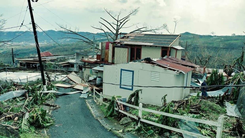 Destrucción en Ciales, Puerto Rico.