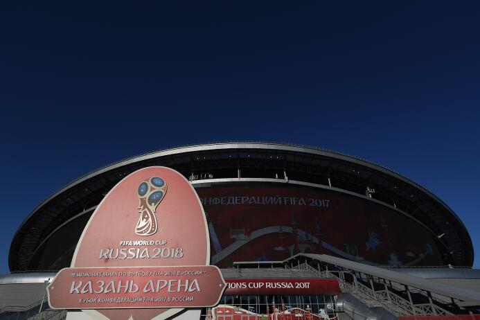 Kazan se pintó de rojo para vivir la primera semifinal de la Confederaci...