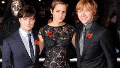 Daniel Radcliffe, Emma Watson y Rupert Grint.
