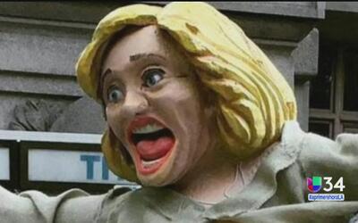 Una estatua de Hillary Clinton genera polémica en Nueva York