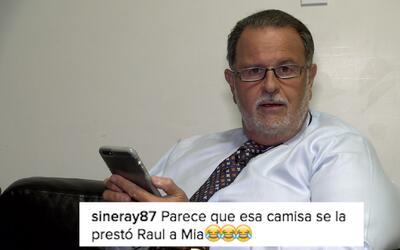 Raúl leyó los comentarios que personas dejaron en las redes sociales sob...