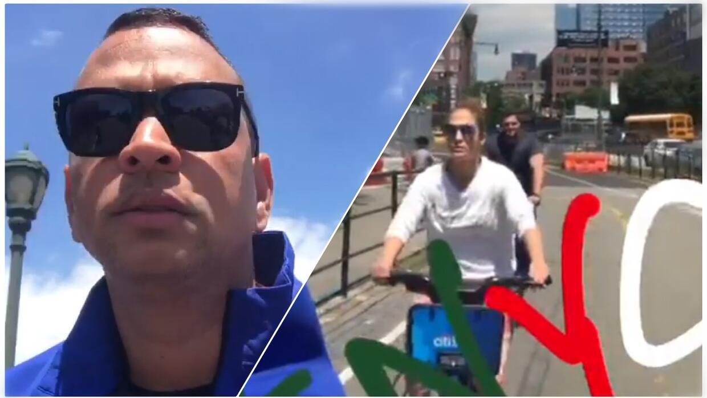 Alex Rodríguez documentó parte del paseo que dio con Jenni...