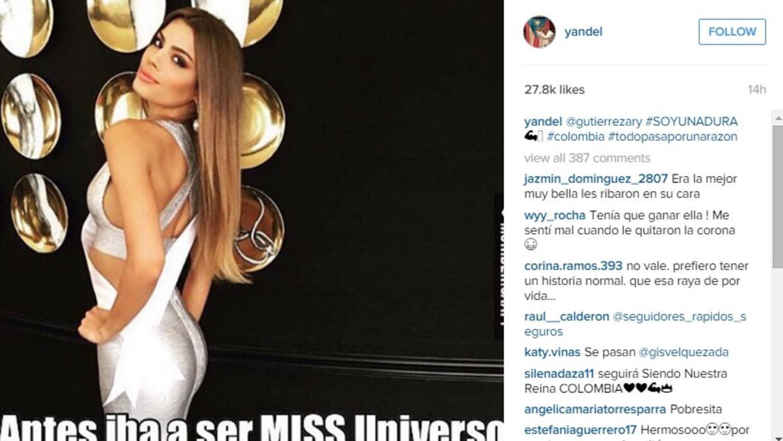 Yandel opinó sobre el error en Miss Universo con un meme.