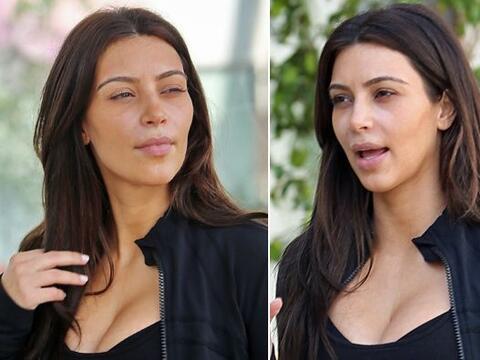 """Vimos a Kim """"al natural"""". Más videos de Chismes aqu&iac..."""